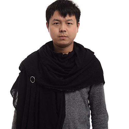 GRACEART Post Apocalyptic Shawl Shaman Cowl Medieval Costume Sash Black (Hood Medieval)