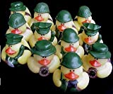 One Dozen (12) Camoflage Rubber Duck Party Favors, Health Care Stuffs