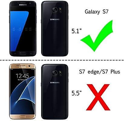 LeYi Compatible with Funda Samsung Galaxy S7 con HD Protectores de Pantalla, Silicona Purpurina Carcasa Transparente Cristal Bumper Telefono Gel TPU ...