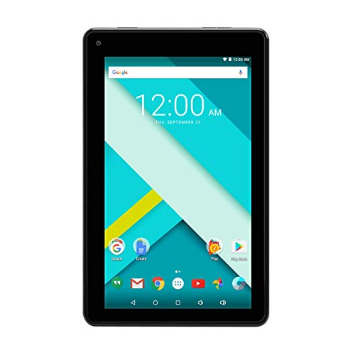 High Performance RCA 7 Inch 1GB RAM 16G Tablet MTK Quad Core Dual Camera Touch IPS Screen 1024 x 600 WiFi Bluetooth Android 7.0 Black (Renewed) (Tablet Quad Core 1gb Ram)
