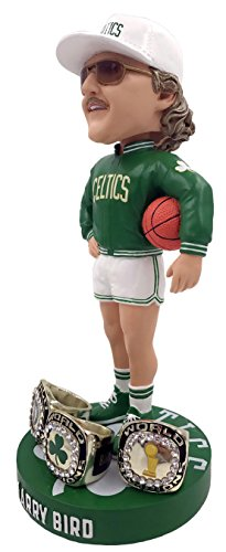 FOCO Boston Celtics Bird L. #33 SMU Three Champ Ring Bobble