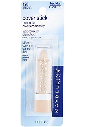 Maybelline Cover Stick Corrector Concealer, Light Beige, 0.16 oz.