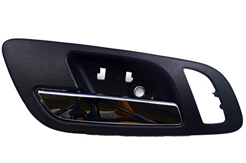 - PT Auto Warehouse GM-2546MAFL2 - Inside Interior Inner Door Handle, Black (Ebony) Housing with Chrome Lever - with Memory and Heated Seat Hole, Driver Side Front