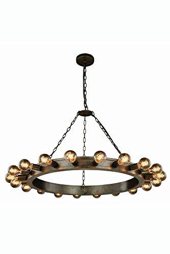 Elegant Lighting 1500G40AI Winston Collection Pendant Lamp D40