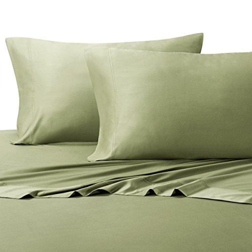 ABRIPEDIC BAMBOO PILLOWCASES, 600 Thread Count, Silky Soft Pillowcases 100% Viscose from Bamboo 2PC Pillow Cases, King Size, Sage (Hotel Thread Sage 600)