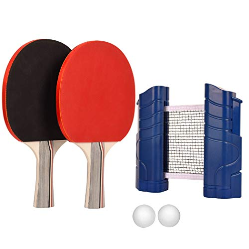 Lowest Price! NWHomies Ping Pong Paddle Set, Portable Table Tennis Package, Ideal Family Ball Game F...