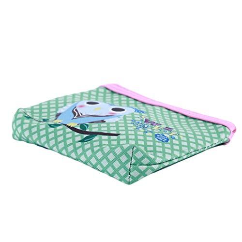 LZIYAN Cute Coin Purse Cartoon Owl Pattern Coin Purse Clutch Bag Portable Small Wallet With Zipper Storage Bag Creative Gift For Women,5# by LZIYAN (Image #4)
