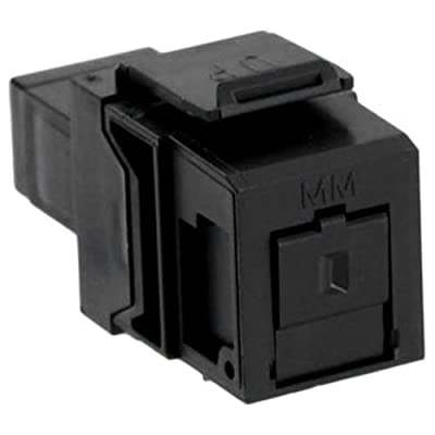 Leviton QuickPort SC Fiber Optic Snap-In Connector, Phosphor Bronze Sleeve, Black (41085-MEC)