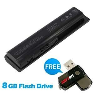 Battpit Bateria de repuesto para portátiles HP Pavilion dv6-1300 Series (8800 mah) Con memoria USB de 8GB GRATUITA