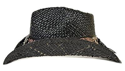 Florida Hat Company Bling Western Hat Heart & Rhinestones/Black
