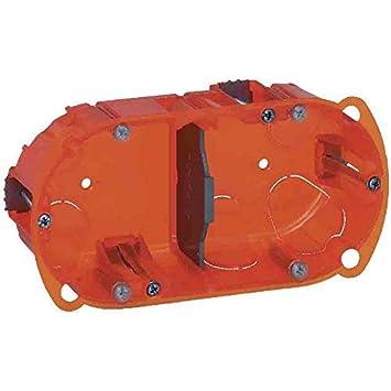 Legrand Batibox LEG90507 - Caja de empotrar (3 elementos, varios materiales, 50 mm de profundidad)