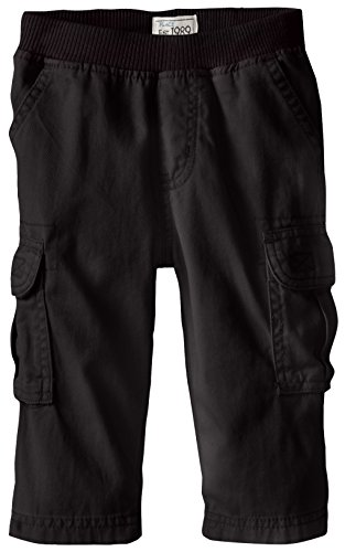 The Children's Place Baby Boys' Toddler Pull On Cargo Pants, Black 8355, 3T ()