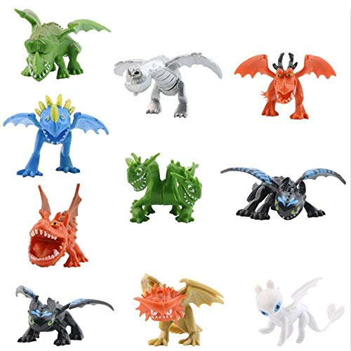 How to Train Your Dragon Dragon Toys Mini Figures – Action Figures 10 pcs 5-6.5cm PVC Action Figures Toy Doll Night Fury Toothless Dragon – Cake Topper