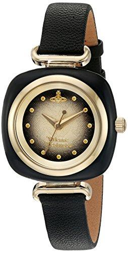 (Vivienne Westwood Women's Swiss Quartz Metal and Leather Casual Watch, Color:Black (Model: VV141BKBK))