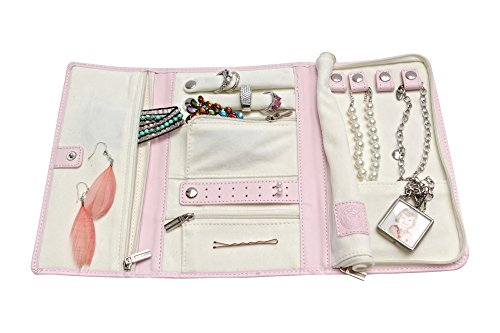 Vegan Leather Travel Jewelry Case - Jewelry Organizer [Petite] by Case Elegance