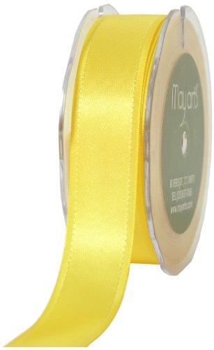 May Arts 1-Inch Wide Ribbon, Yellow Satin