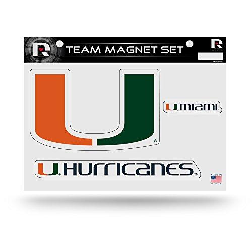 NCAA Miami Hurricanes NCAA Team Magnet Sheet, Green, 11