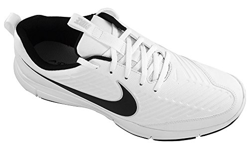 NIKE Men's Explorer 2 Golf Shoe, White/Black, 10.5 M US