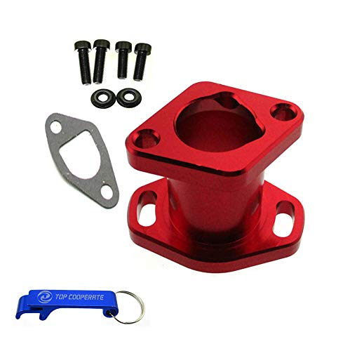 - TC-Motor Red Racing Performance Intake Pipe Inlet Manifold Gasket Screw For Predator 212cc For Honda GX200 For 6.5HP Chinese OHV Engines For Chinese 196cc Clone Engines Mini Bike Go Kart
