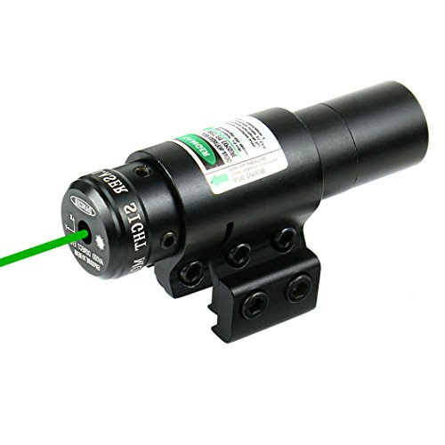 IRON JIA'S Compact Adjustable Green Dot Laser sight with Mount for 20mm /11mm Picatinny Rails Airsoft Hunting (Green) ()