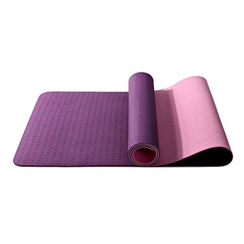 AILI Tapis de yoga haut élastique, tapis de pique-nique extérieur antidérapant double-face