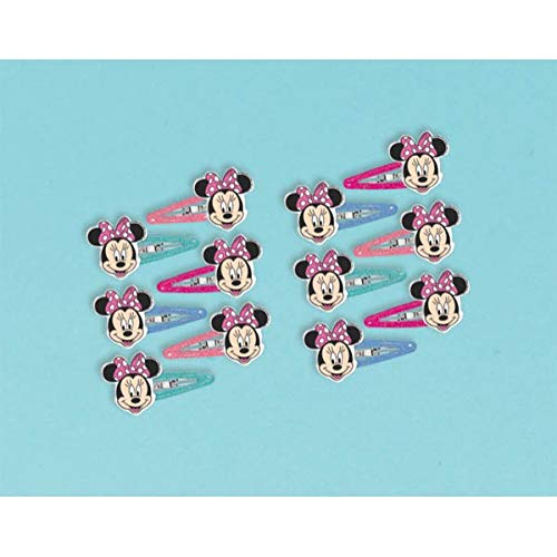 Disney Minnie Mouse Bow Hair Clip, Multi Color, 1X1 3/4-Inch (12 Pack) ()