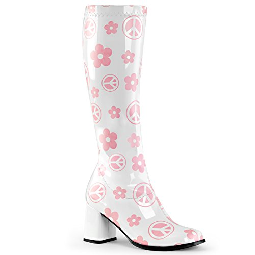 Funtasma Womens GOGO-300FL Boots, Wht STR Pat, Size - -