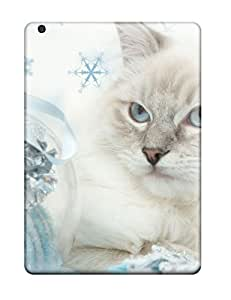 Protection Case For Ipad Air / Case Cover For Ipad(cat With Silver Ball)