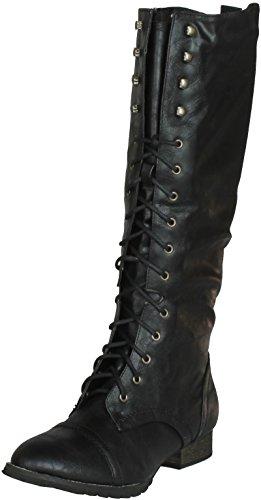 Breckelle's Women Outlaw-13 Boots,Black,6.5 (Combat Women Breckelles Boots)