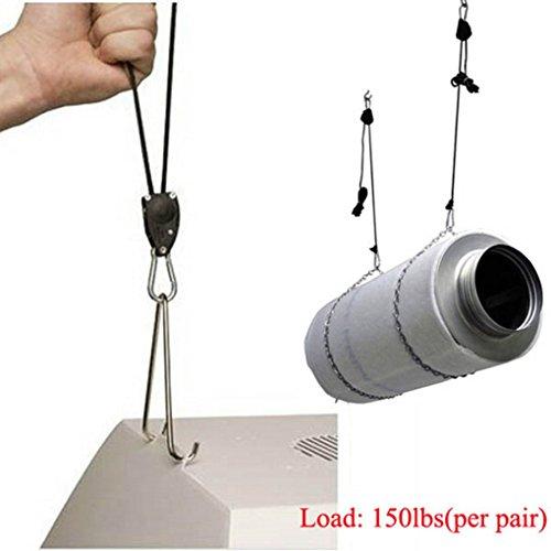 [2pcs Adjustable Plant Grow Light Hooks Rope Ratchet Hangers Gardening Tool] (Miniture Top Hats)