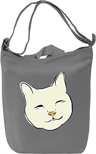 Kitty face Borsa Giornaliera Canvas Canvas Day Bag| 100% Premium Cotton Canvas| DTG Printing|