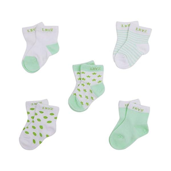 CHIC CHIC 5 Pairs Cute Toddler Newborn Baby Socks Lovely Soft Elastic Ankle Socks for Baby Girls Boys
