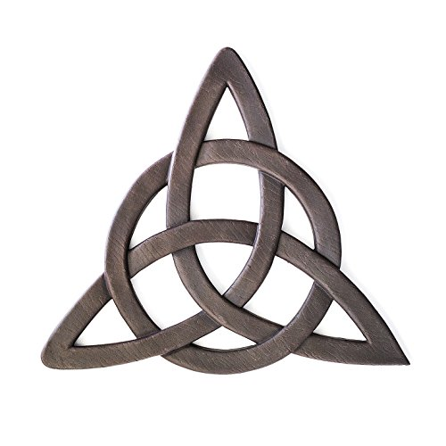 Resin Celtic Trinity Knot Wall Art for Home Decoration, Religious Communion Baptism Gifts, & Churches by Super Z Outlet