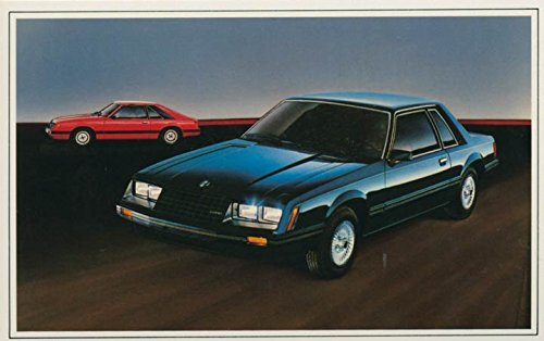 1982 Ford Mustang ORIGINAL Factory Postcard