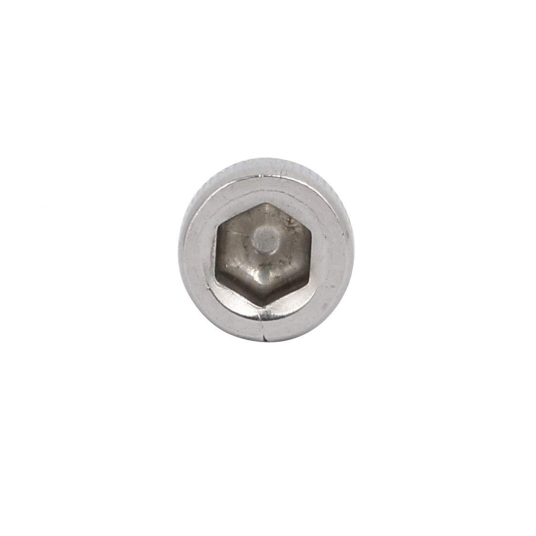 sourcingmap 1//4-20x1//2 fil COMPLET acier inox 304 vis t/ête Hex 10pcs