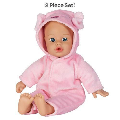 Adora Soft Baby Doll Funsie Onesie Baby Pig 11 inch Mini Vinyl Doll, Cuddly Weighted Body, Blue Eyes ()