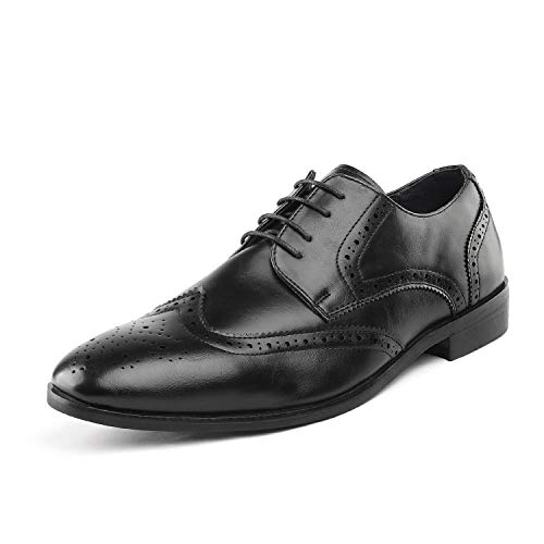 (Bruno Marc Men's HUTCHINGSON_3 Black Classic Oxfords Formal Wingtip Lace Up Dress Shoes Size 13 M US)