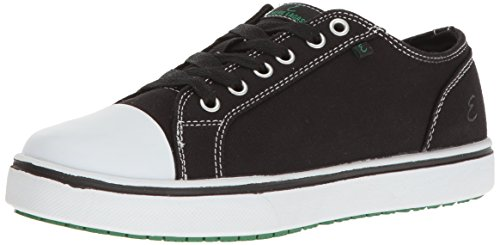 Emeril Lagasse Women's Canal Canvas Slip-Resistant Shoe, Black/White, 8 M US Canvas Slip Shoes
