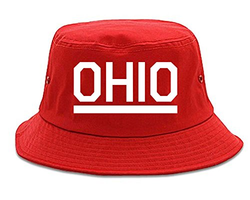 Kings Of NY Ohio USA State Bucket Hat Red (Streetwear Bucket Hats)