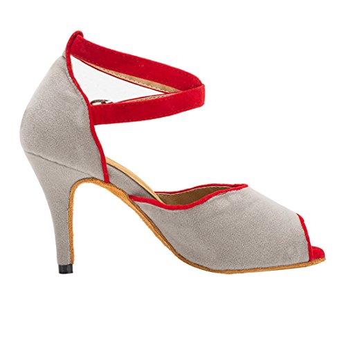 Salon de Femme Grey Red 5cm Heel 8 MiyooparkUK Miyoopark HW180514 Danse XtfwIq