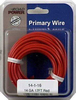 Coleman Cable 14-1-16 14-Gauge 17-Foot Automotive Copper Wire, Red (14 Gauge Wire Diameter)