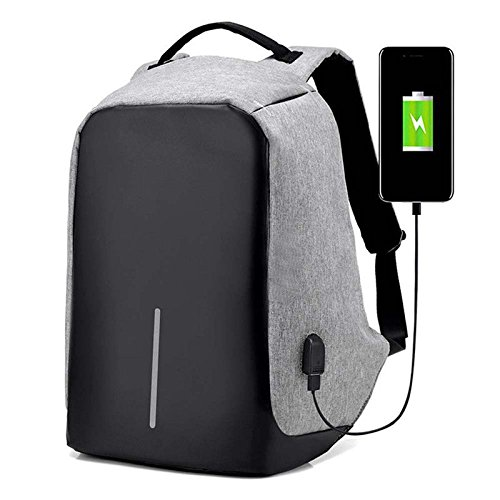 Anti-theft Mens Womens Laptop Notebook Backpack + USB Charging Port School (Westfield Single)