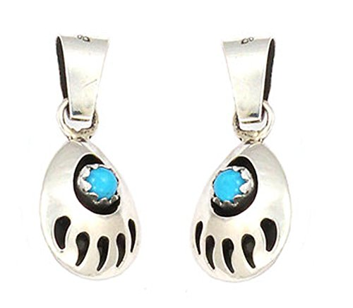 Made In USA By Navajo Artist Gaynelle Parker Double sided Bear paw Necklace (Navajo Bear)