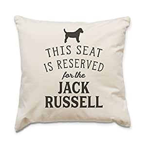NEW - RESERVED FOR THE JACK RUSSELL - Top Quality Cushion Cover - Dog Gift Present Xmas Birthday