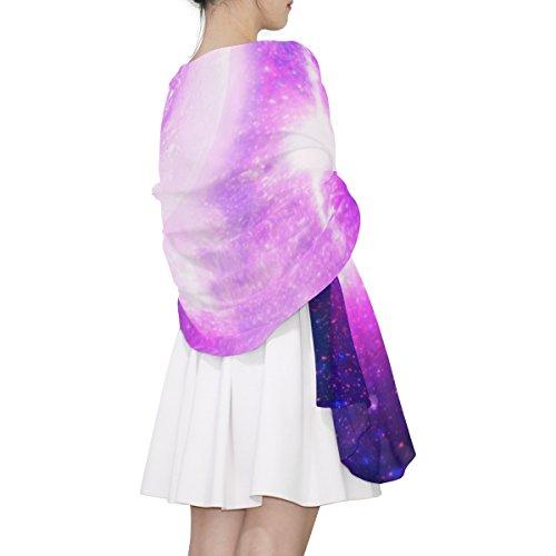 Univers Galaxy Et Alaza Pourpre Léger Écharpe Planète Multicolore Femme 7Y55Swq6