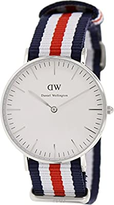 Daniel Wellington Women's 0606DW Canterbury Stainless Steel Watch With Multi-Color Nylon Band
