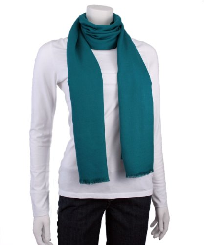 Love Quotes Rayon/Poly Blend Wrap/Scarf with 3/4 in. Eyelash Fringe (Teal)