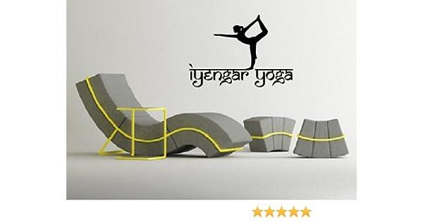 Iyengar Yoga Symbol Spiritual Sanskrit Decor Wall MURAL Vinyl Art Sticker p576