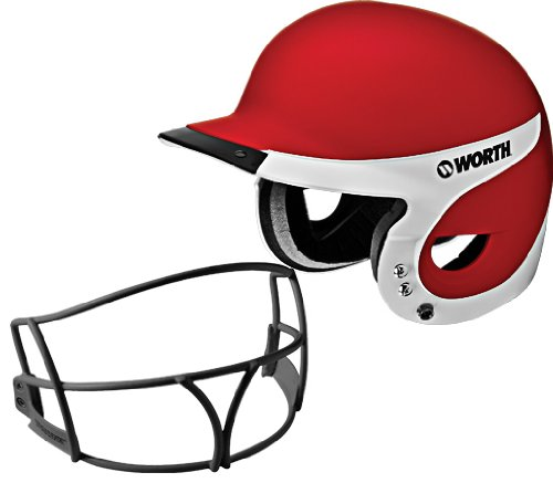 (Worth Liberty Away Helmet with Mask (Scarlet))