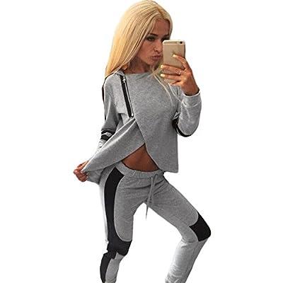 2pièces à capuche Casual Pantalon de Jogging pour Femme de Club Wear Vêtements Casual pour Femme Soirée Taille UK 8–10